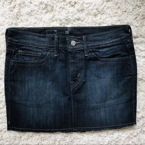 LEVIS Jean Mini Skirt Denim Sz 26
